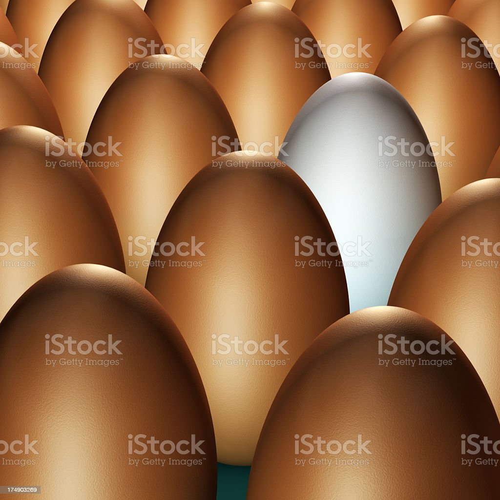 Lined Up for Easter royalty-free stock photo