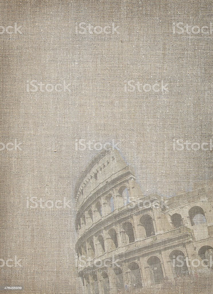 Linen background with Rome view royalty-free stock photo