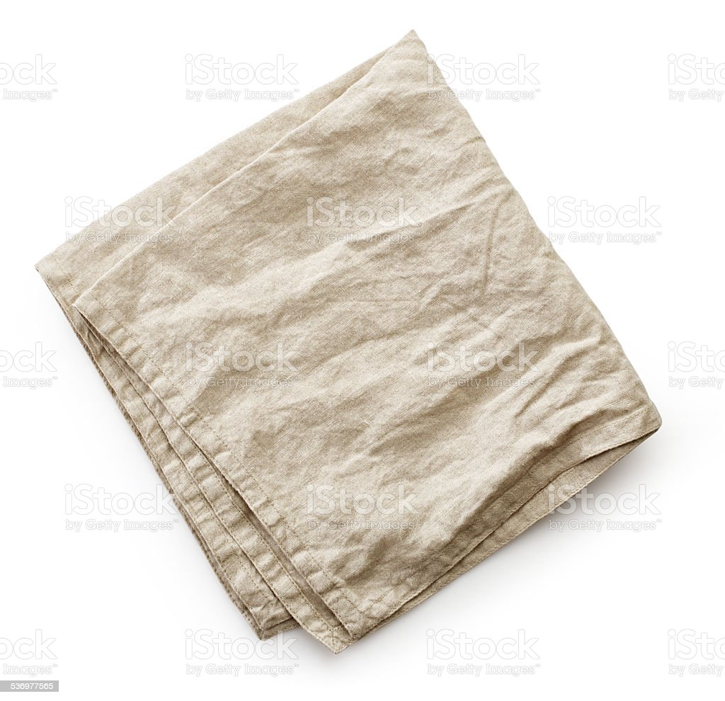 linen napkin stock photo