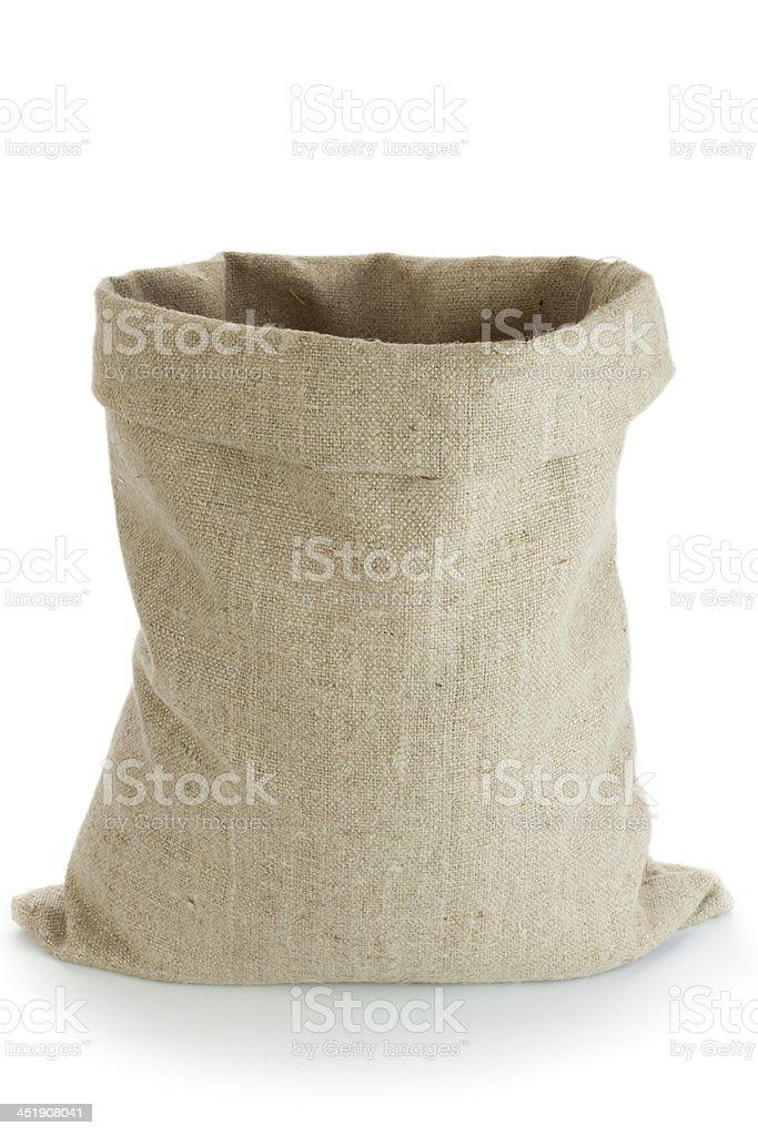Linen sack stock photo