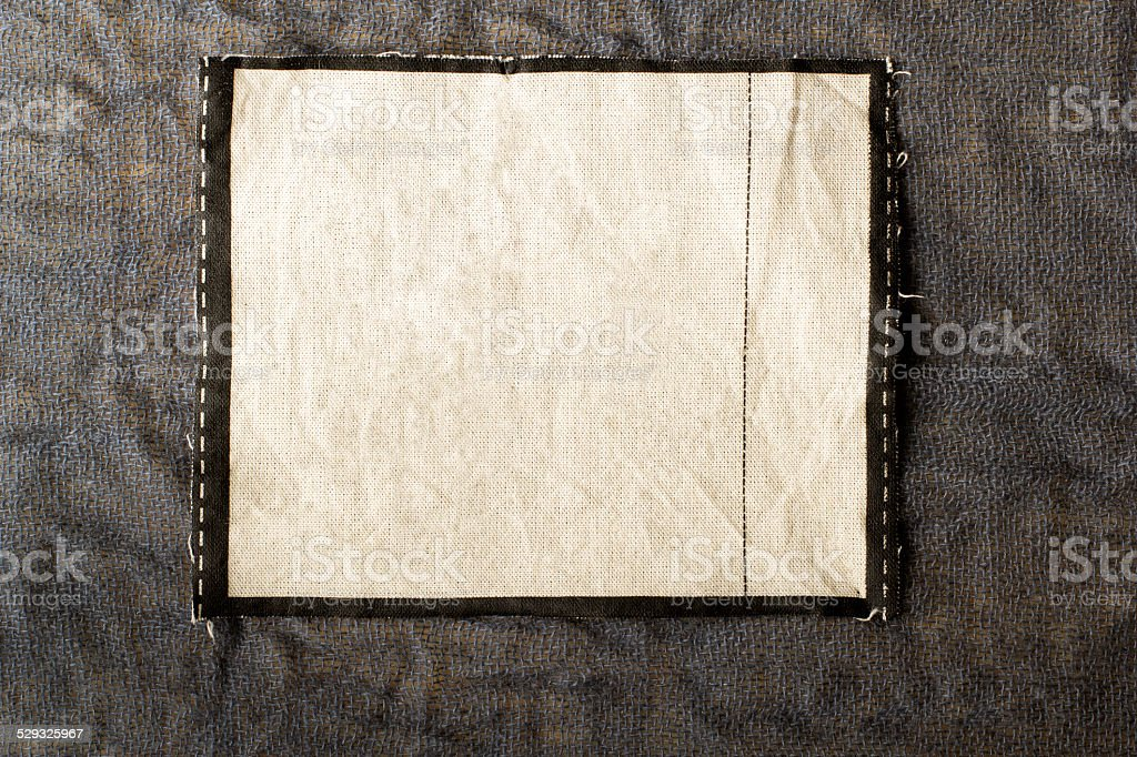 Linen tag stock photo
