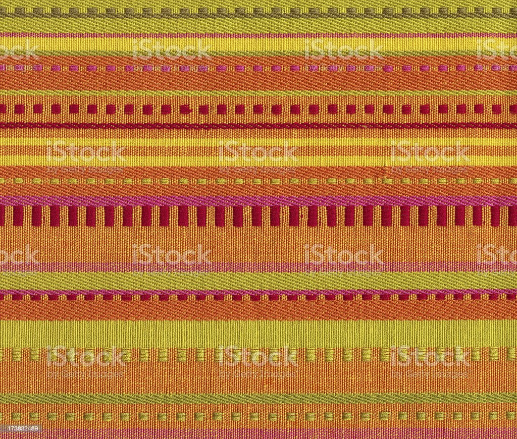 linen with Mexican style pattern stock photo