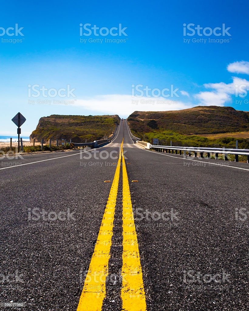 Lines in Road stock photo