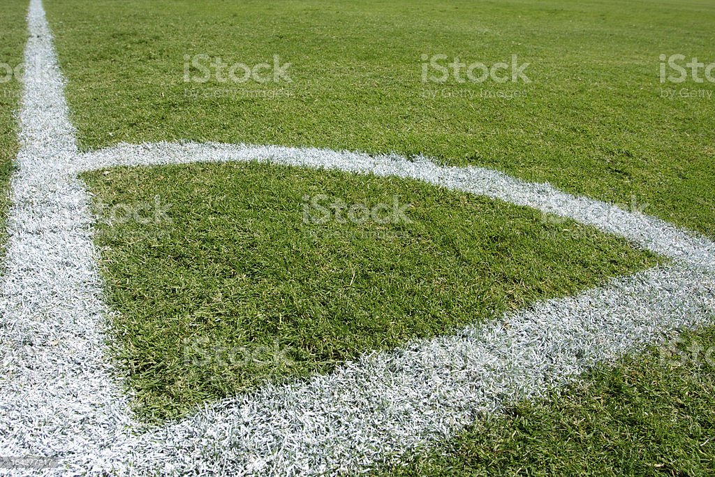 Lines of a Soccer Field royalty-free stock photo