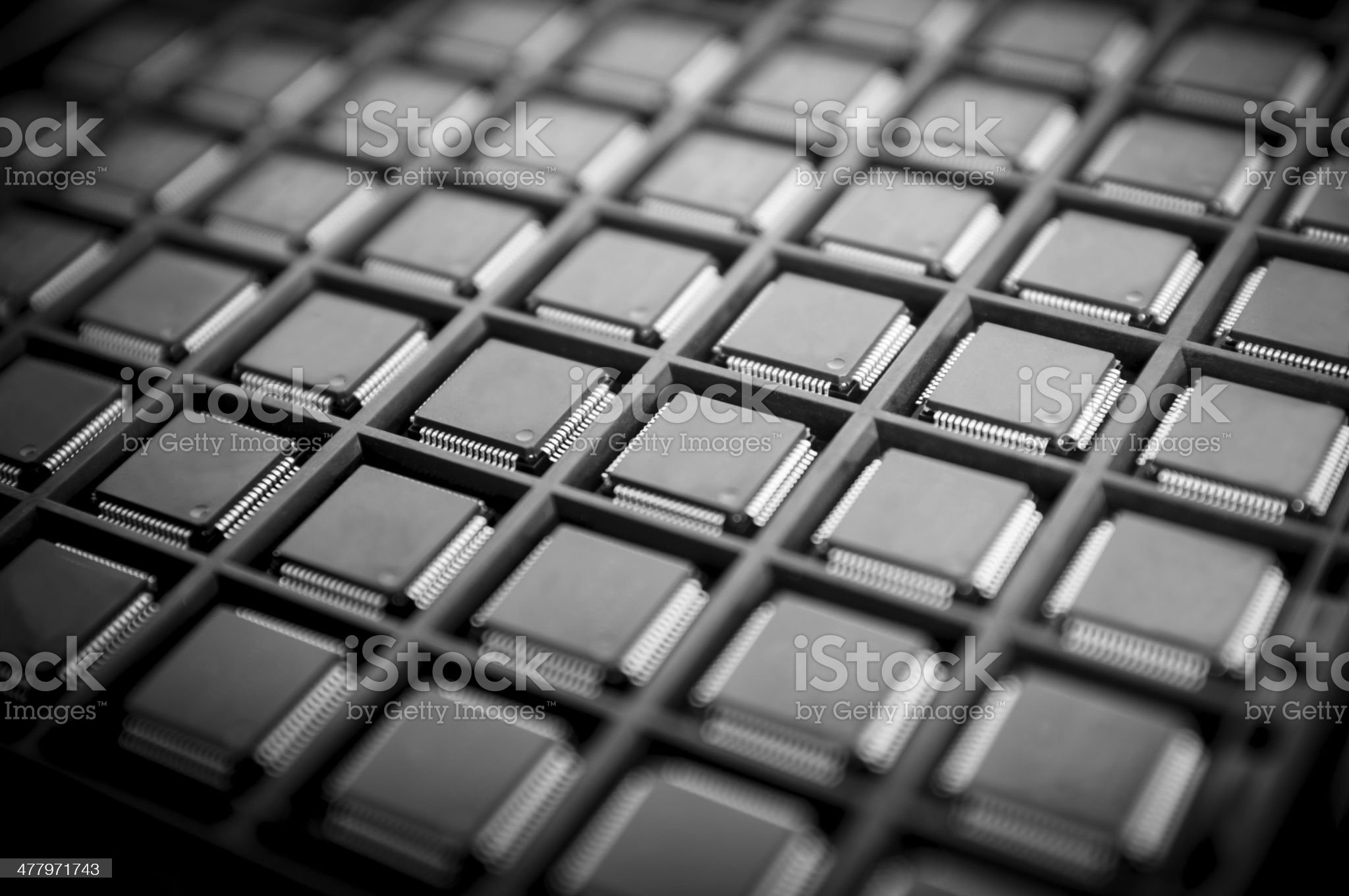 Lines of CPU micro controllers royalty-free stock photo