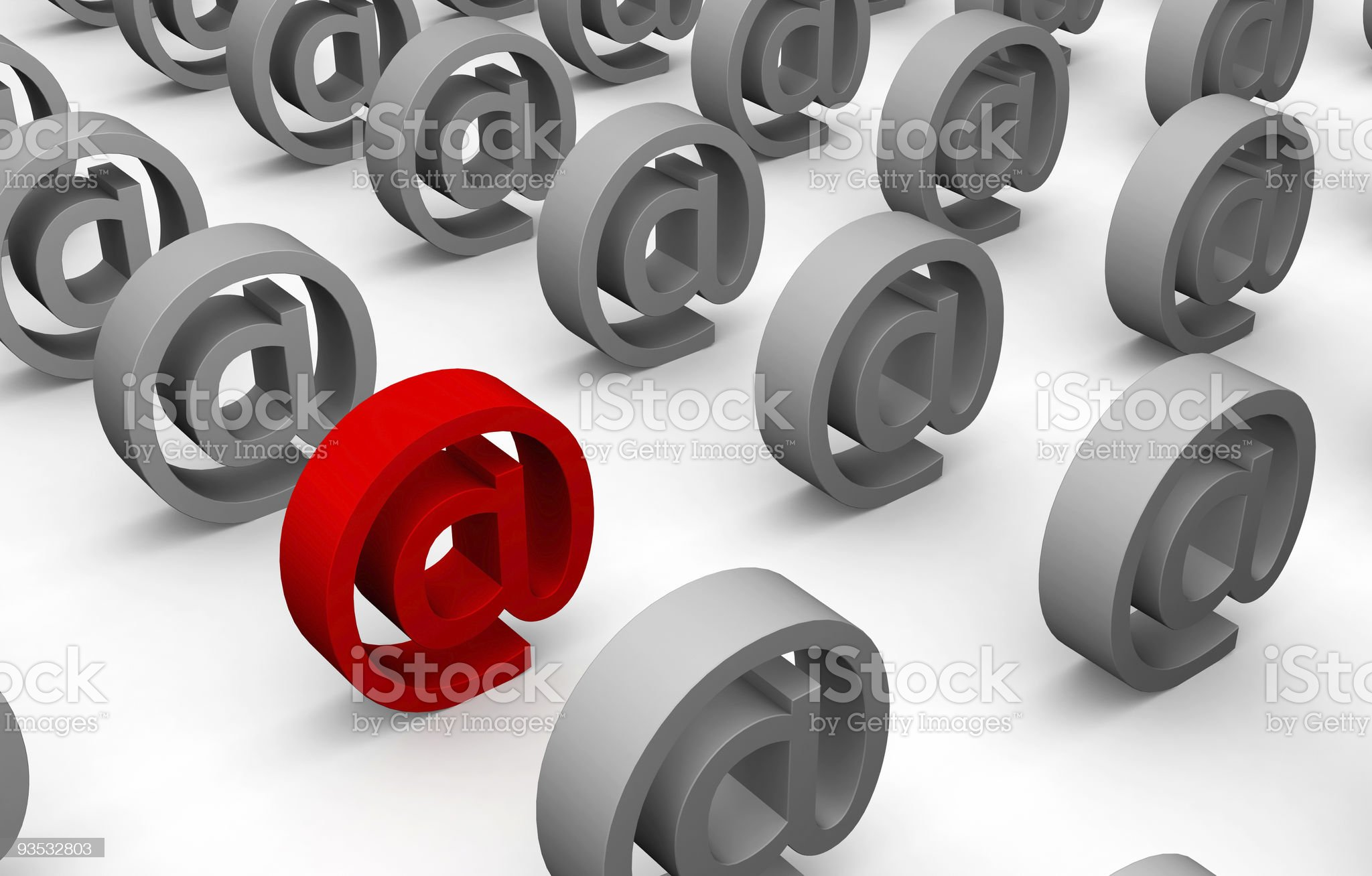 Lines of email marks royalty-free stock vector art
