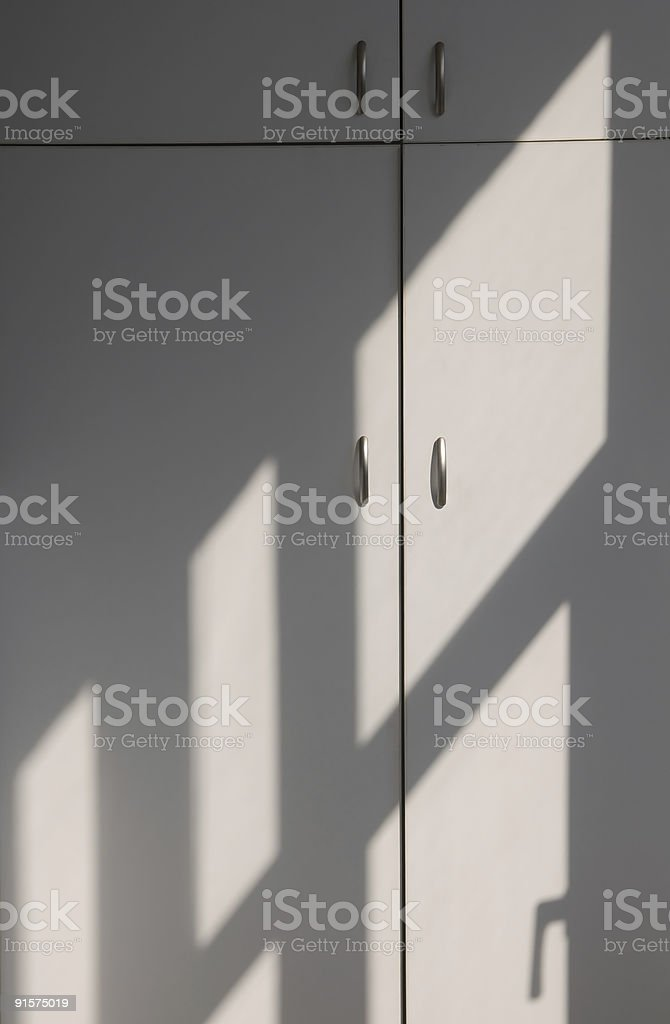 Lines of light-and-shadow stock photo