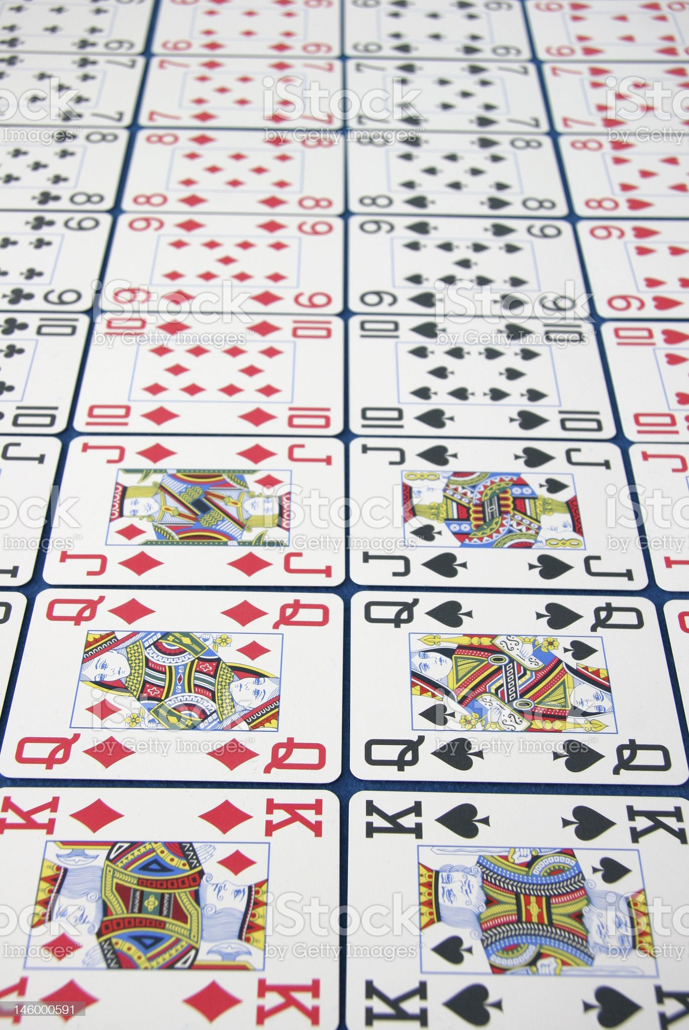 Lines of Pokercards royalty-free stock photo
