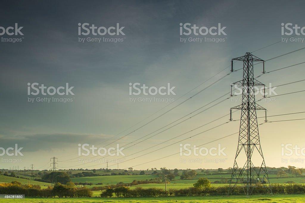 Lines Of Power. stock photo