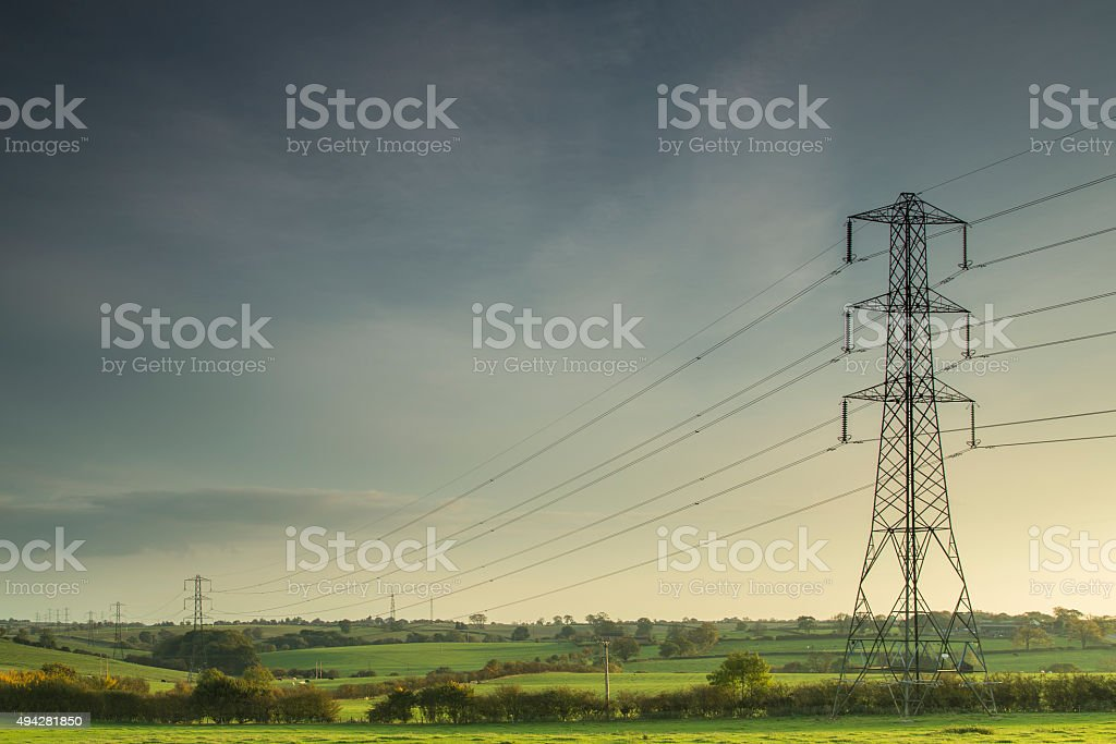 Lines Of Power. stock photo