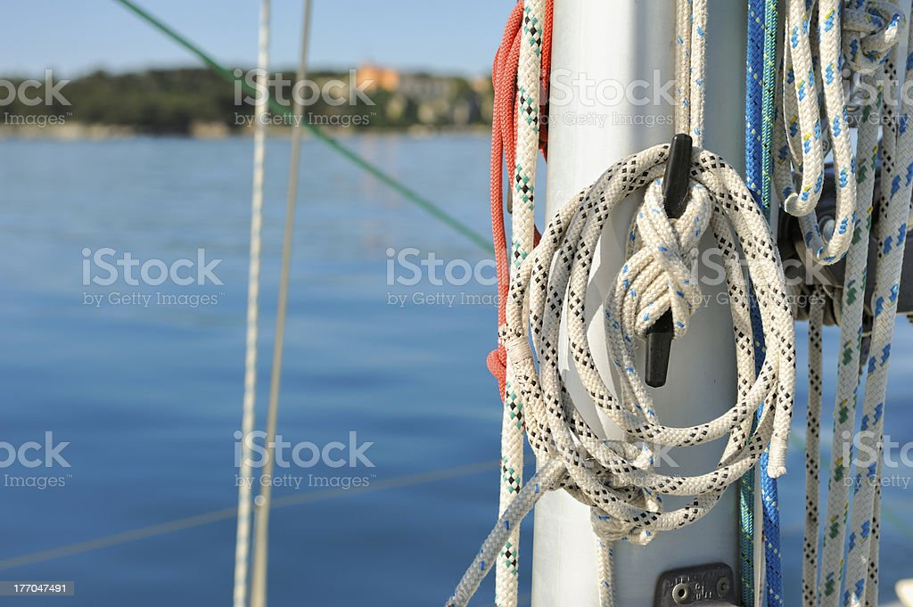 Lines on the mast royalty-free stock photo