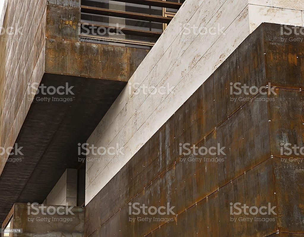 Líneas, stone, metal, es un edificio - foto de stock