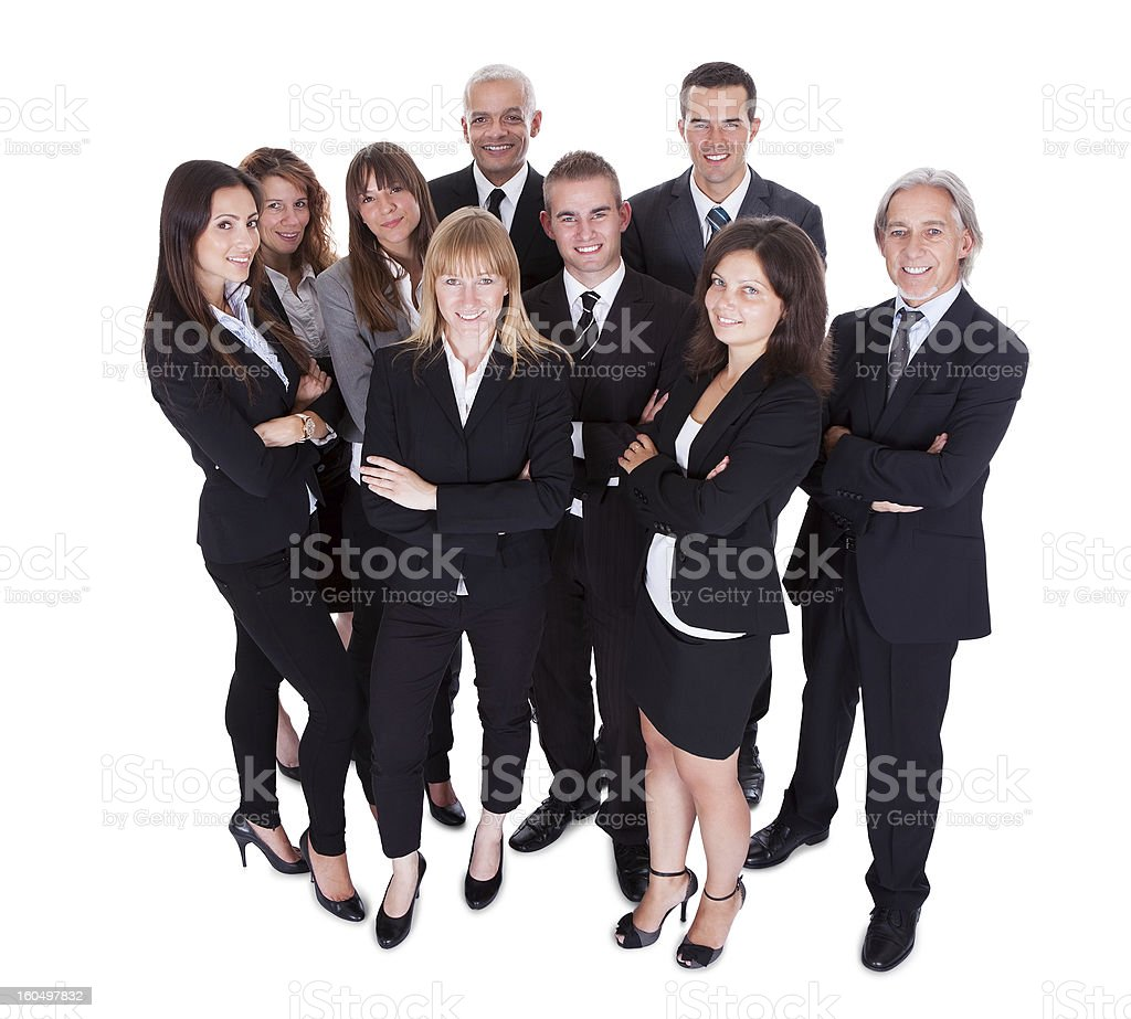 Lineup of business executives or partners stock photo