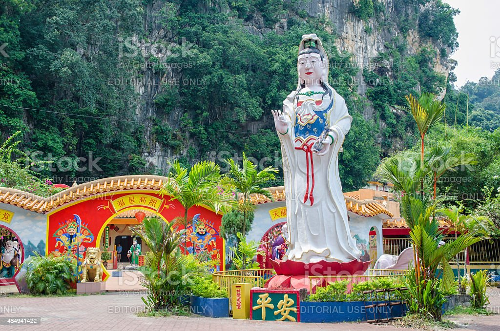 Ling Sen Tong Cave Temple located at the Ipoh,Perak. stock photo