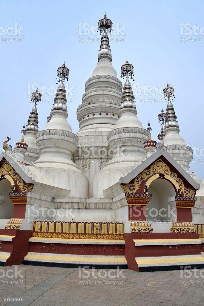 Ling Shan temple, Jiangsu province China stock photo