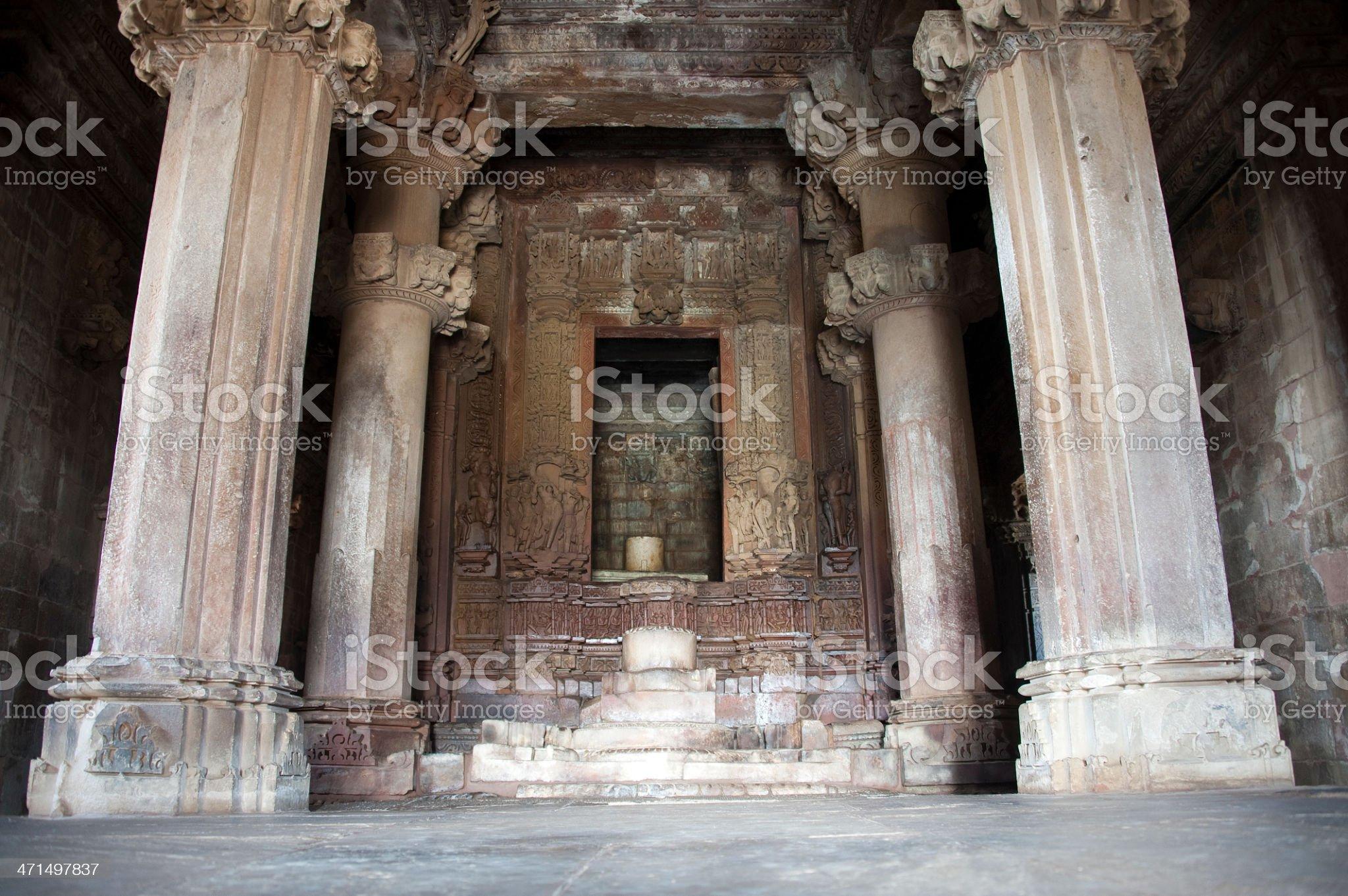 Lingam in Garbhagriha royalty-free stock photo