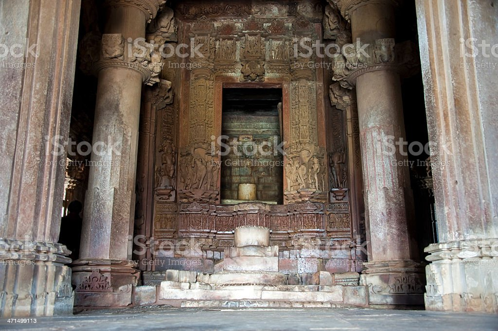 Lingam in Garbhagriha royalty-free stock photo