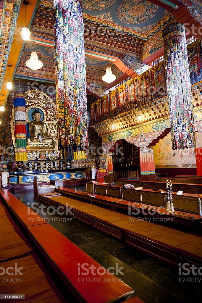 Lingdum Monastery Sikkim India royalty-free stock photo