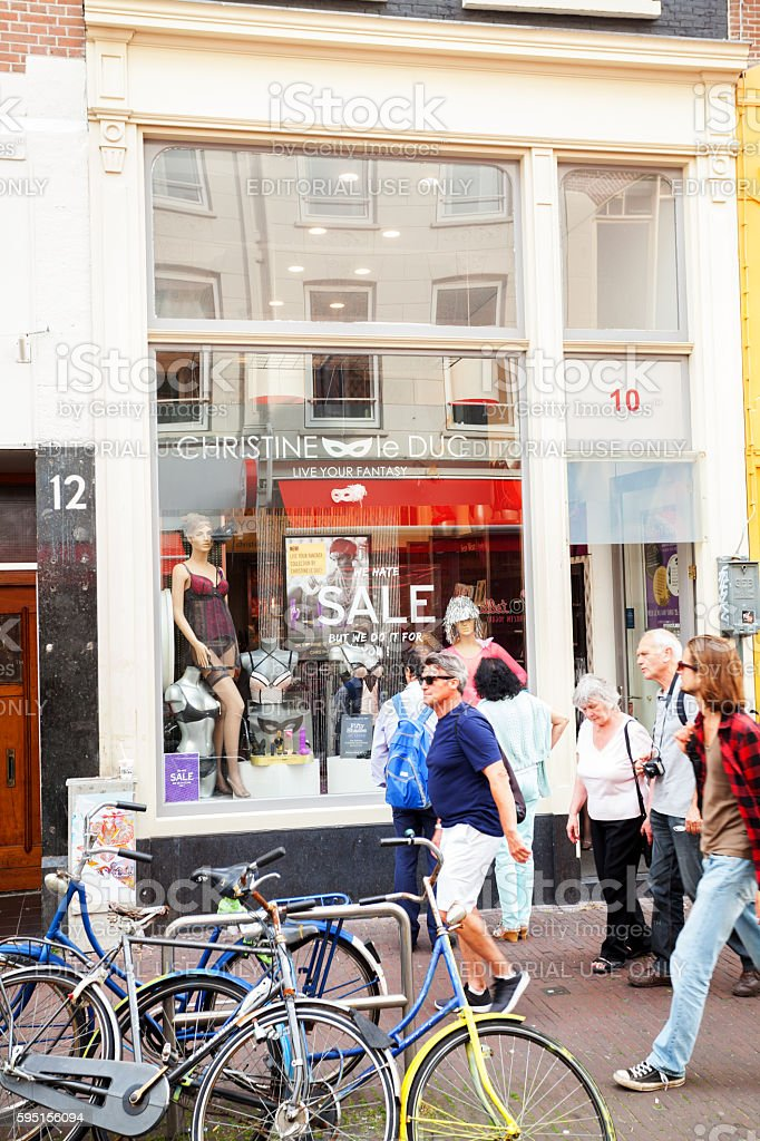 Lingerie and sex toy sale in Amsterdam stock photo