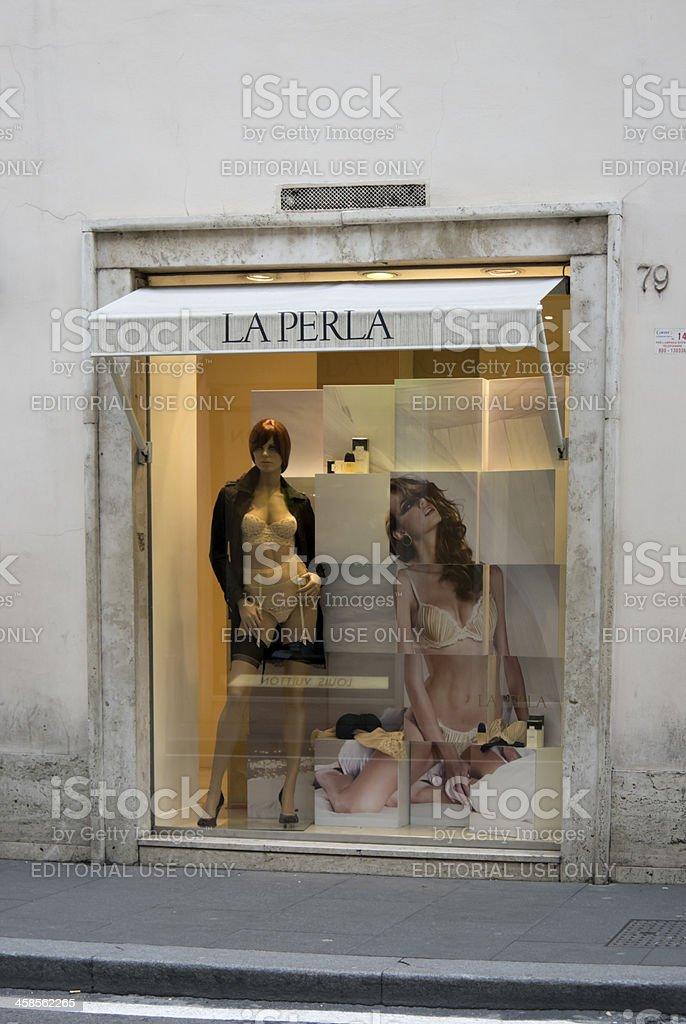 Lingerie in La Perla shop window, Via dei Condotti, Rome royalty-free stock photo