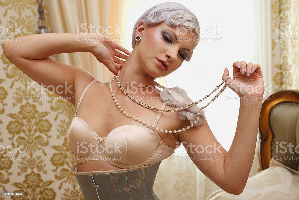 Lingerie Model royalty-free stock photo