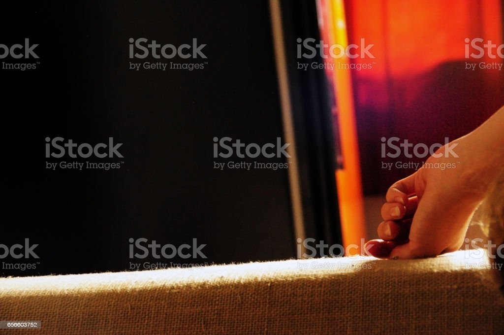 Lingering hand. stock photo