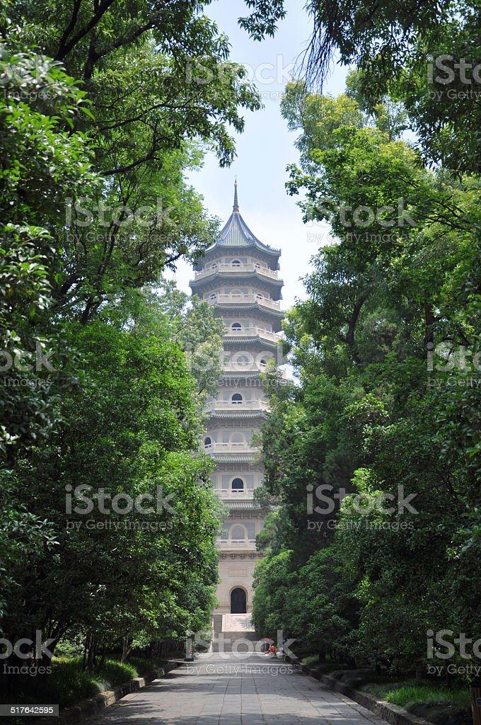 Linggu Pagoda, Nanjing, China stock photo