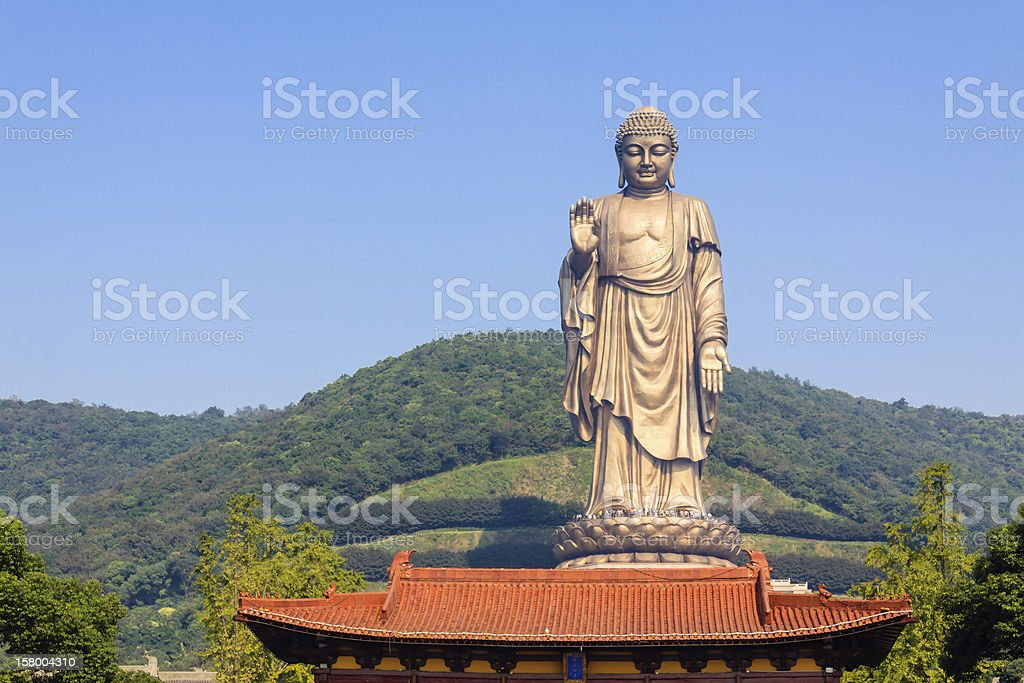Lingshan grand Buddha stock photo