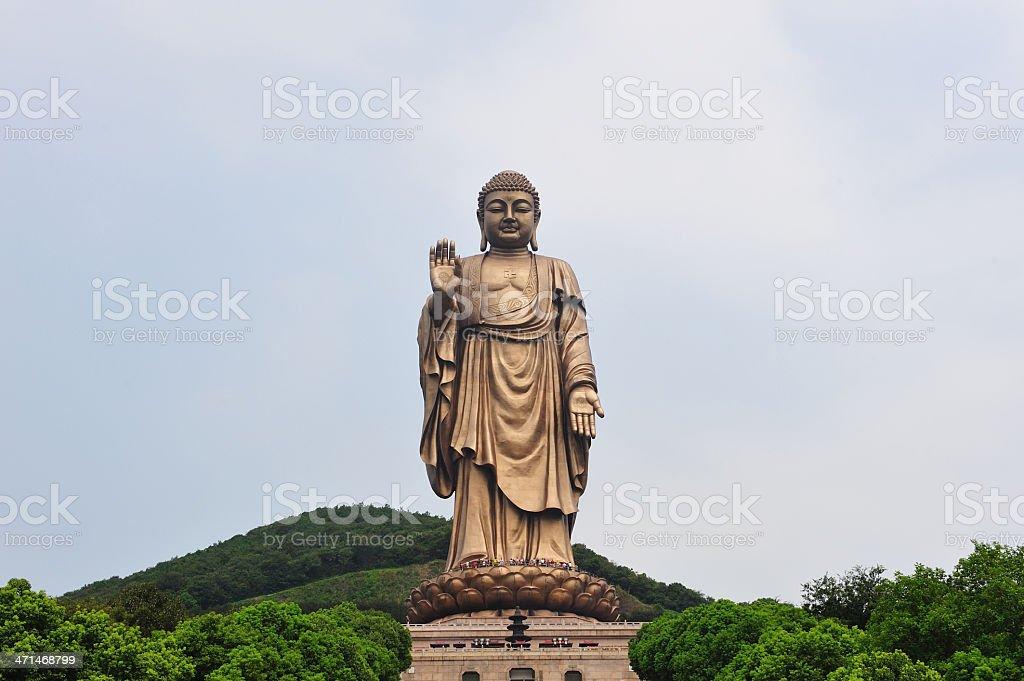 Lingshan Grand Buddha, Wuzi, China royalty-free stock photo