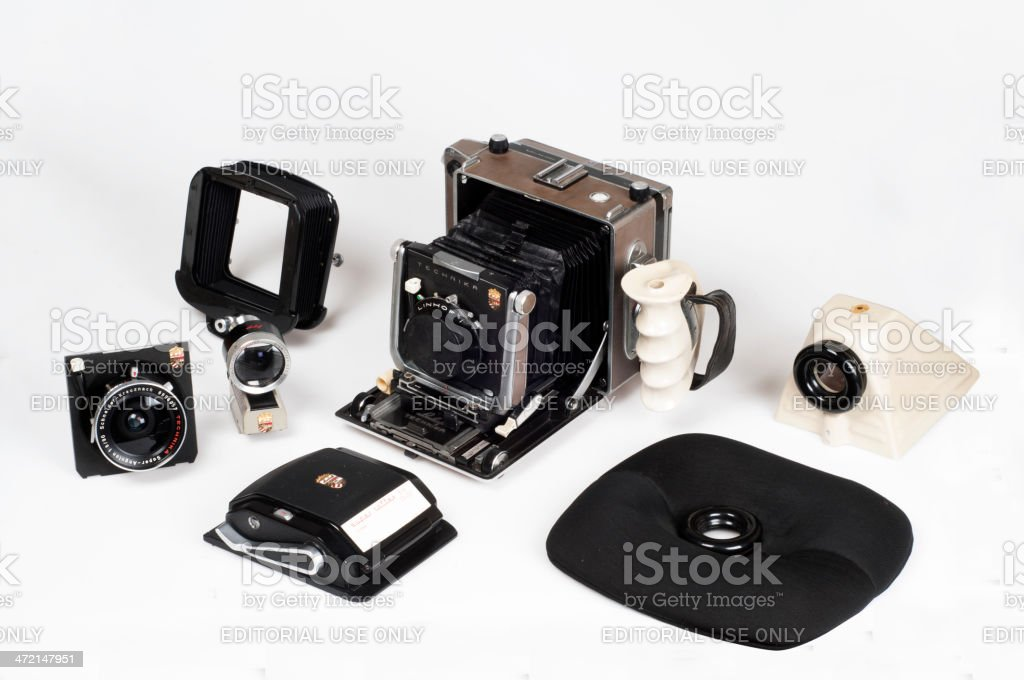 Linhof Master Technika classic Camera 4x5 set royalty-free stock photo
