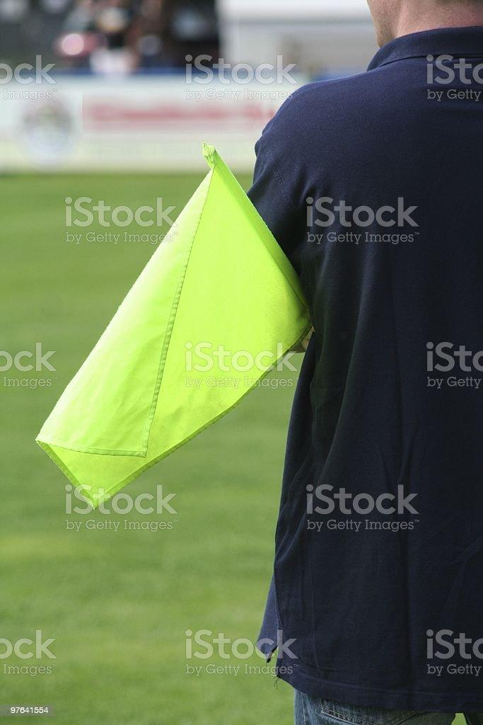 Linienrichter mit Fahne royalty-free stock photo