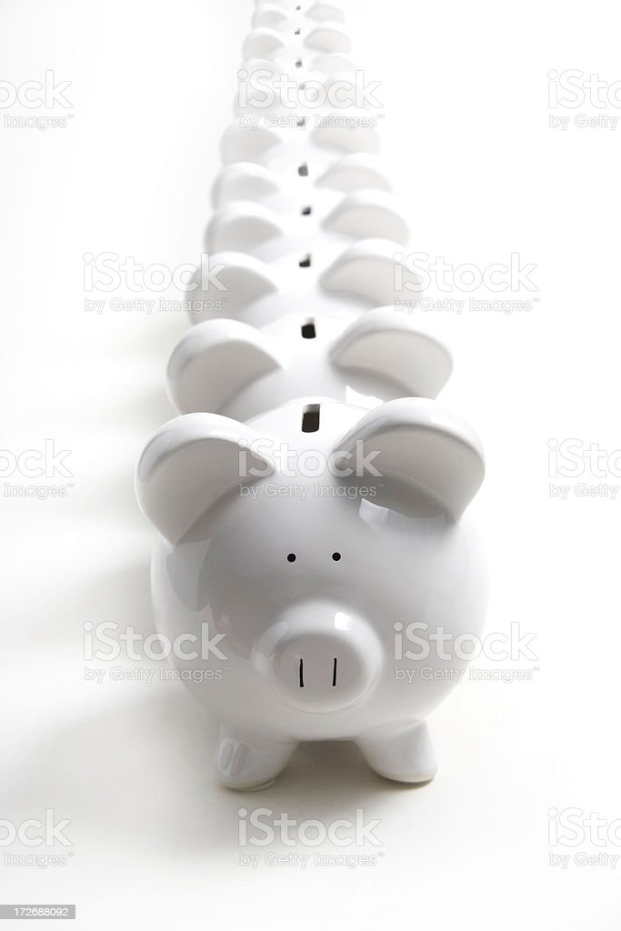 Lining Up royalty-free stock photo