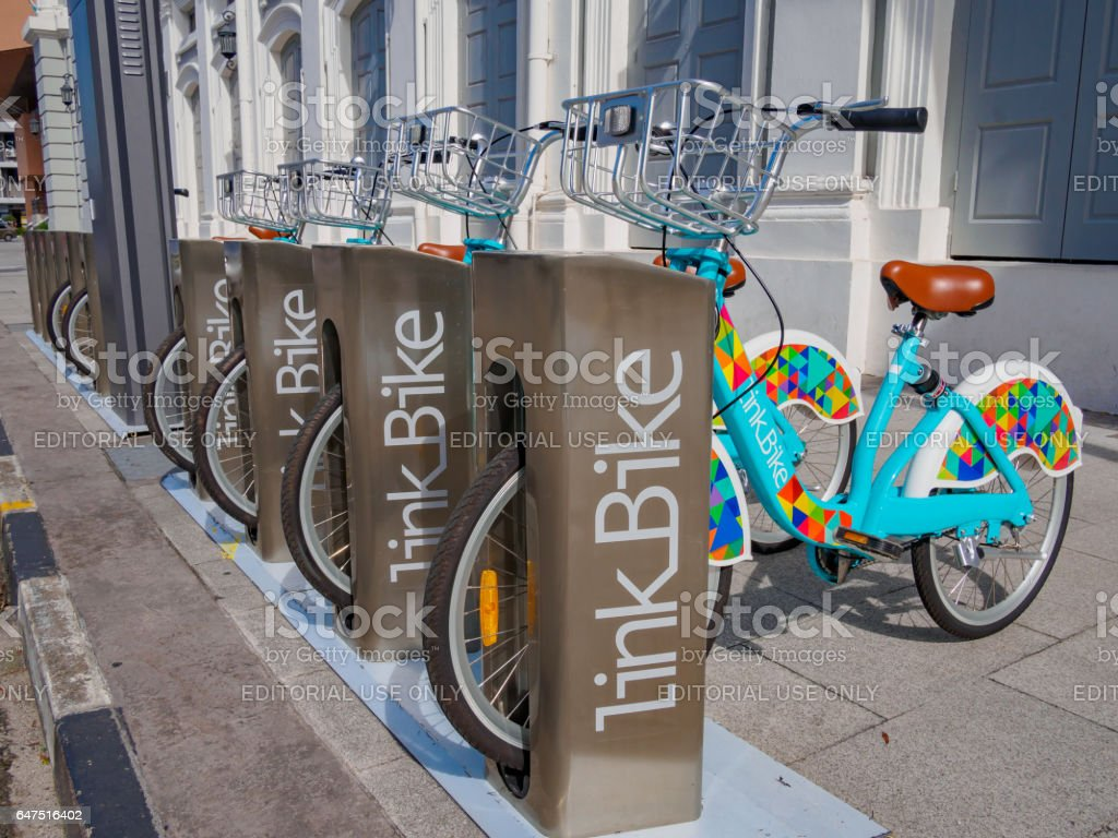 LinkBike service in Penang Malaysia stock photo