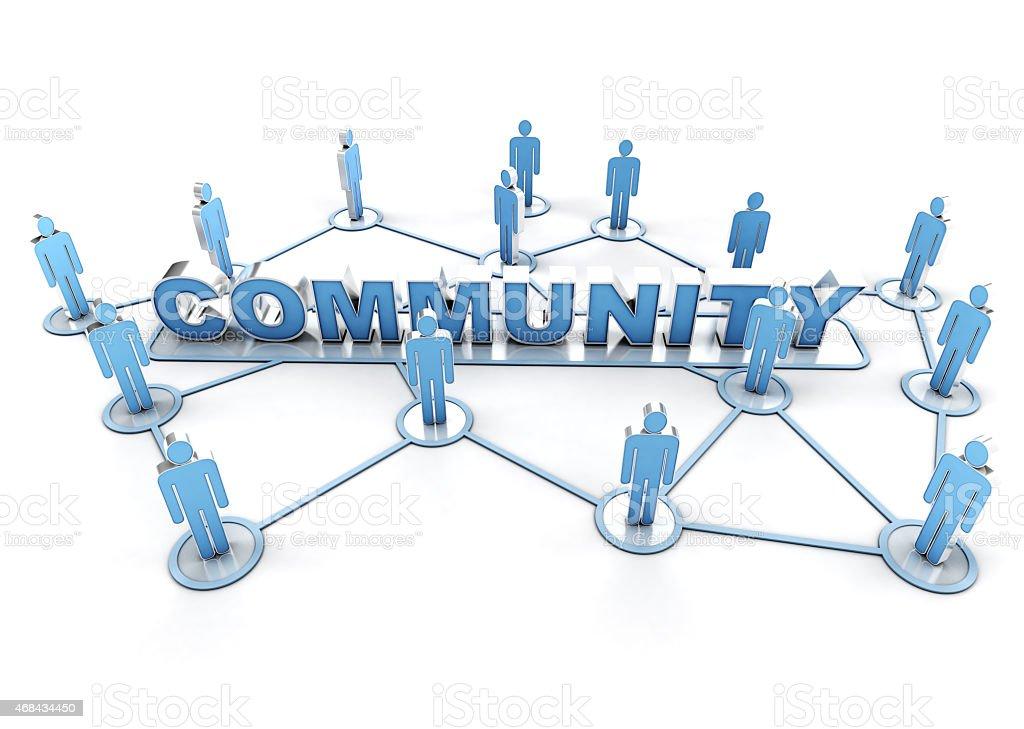 Linked community stock photo