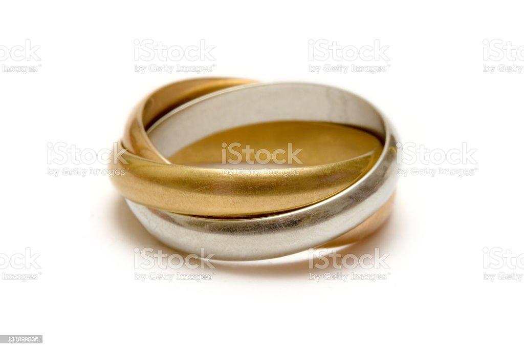 Linked Rings - Macro stock photo