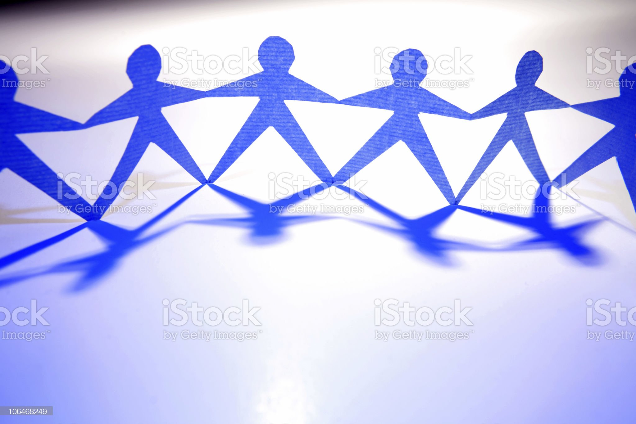 Linked together royalty-free stock photo