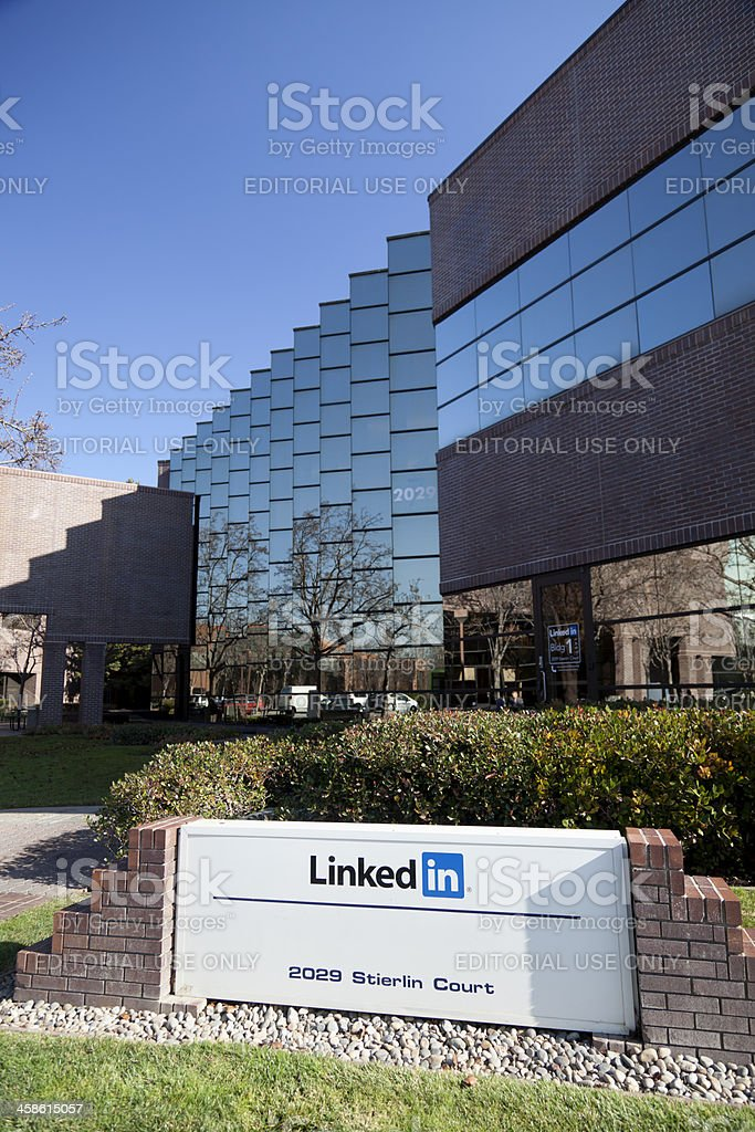 Linkedin Mountain View stock photo