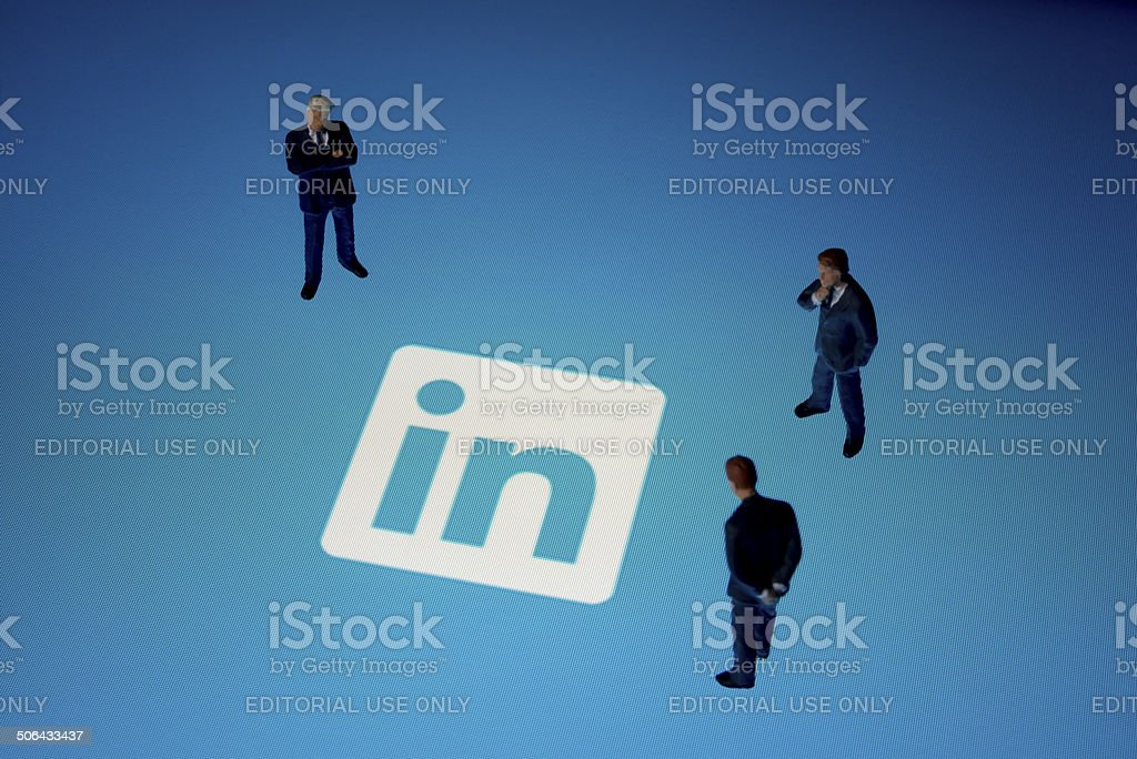 Linkedin on Apple iPad stock photo