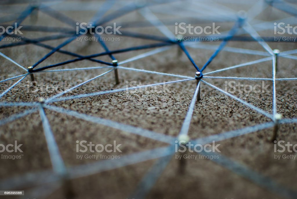 Linking entities. Network, networking, social media, connectivity,...