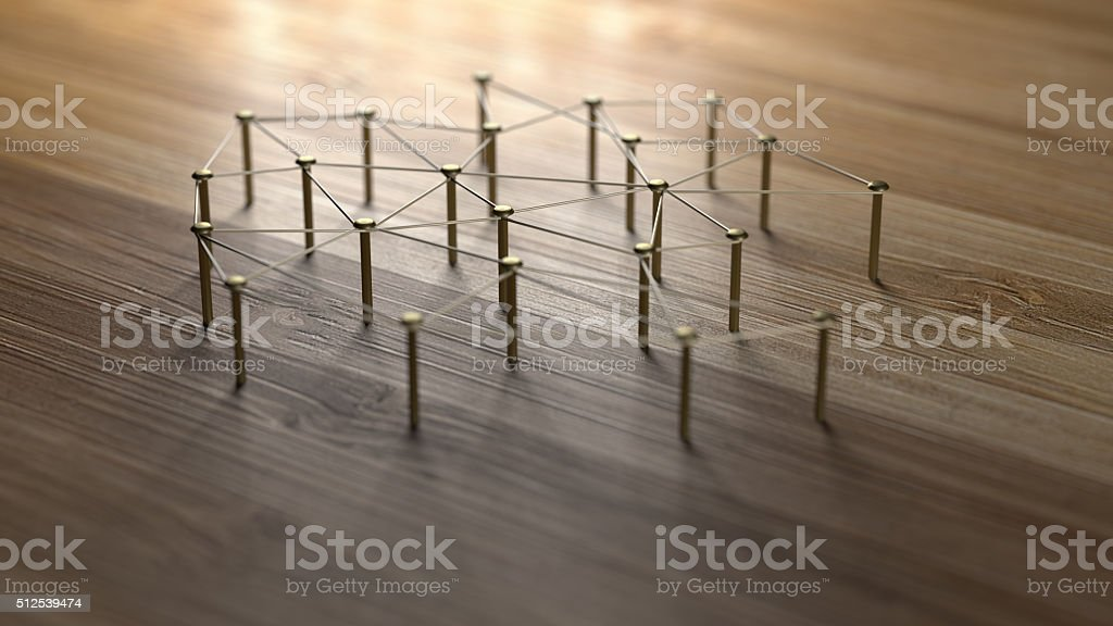 Linking entities. Network, networking, social media, internet communication abstract. stock photo