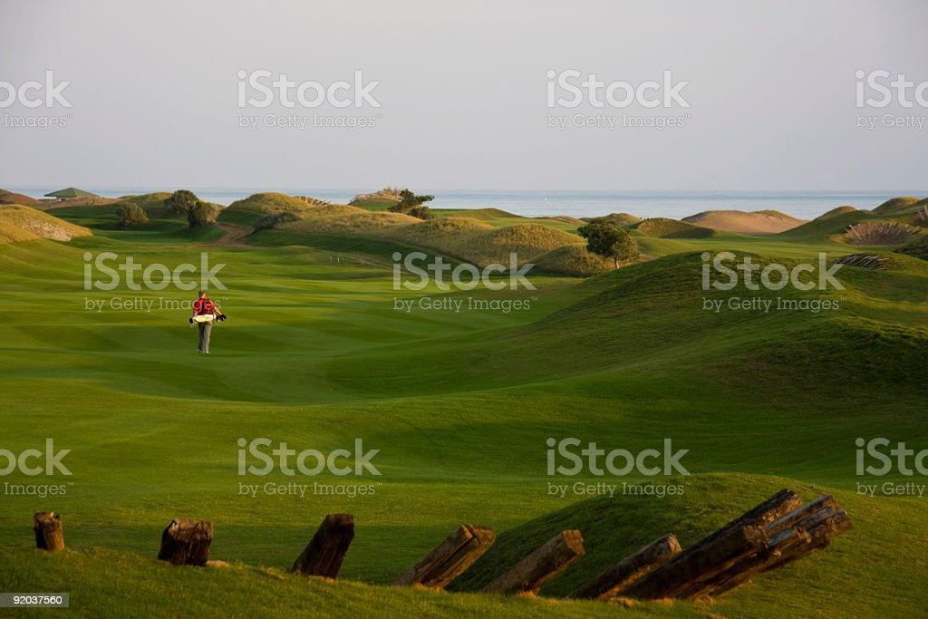 LinksGolf Course stock photo