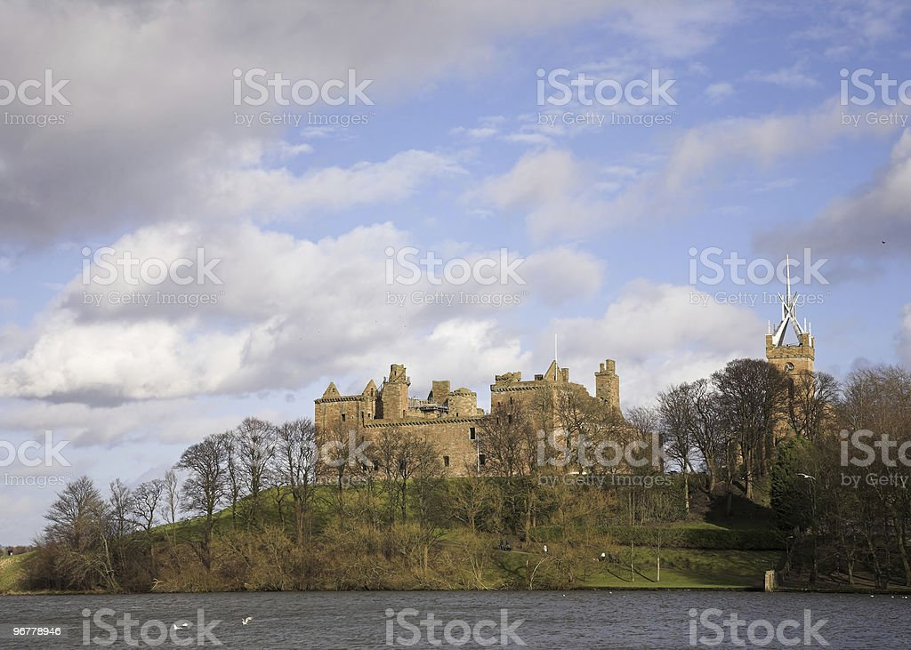 Linlithgo Palace in Scotland stock photo