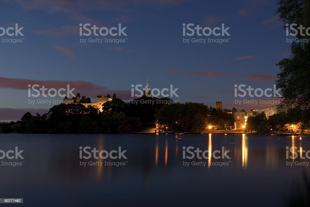 Linlithgow at dusk stock photo