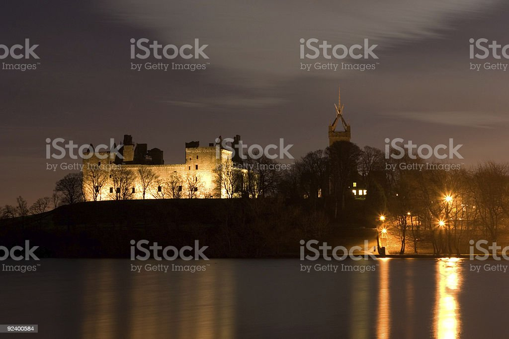 Linlithgow Palace in Scotland stock photo
