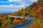 Linn Cove Viaduct - Blue Ridge parkway fall