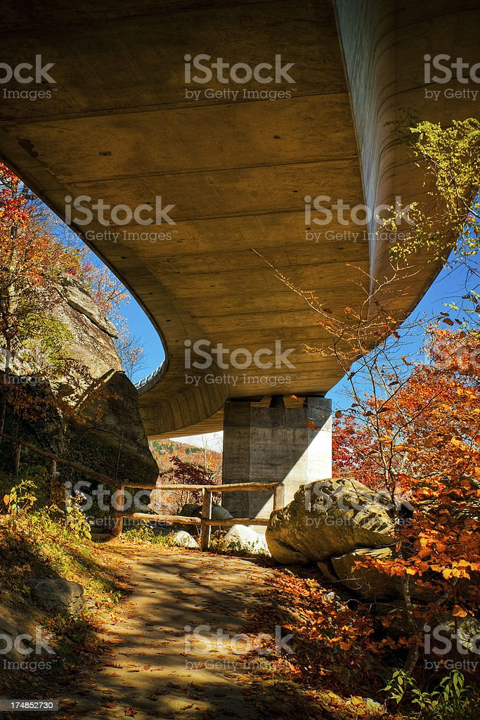 Linn Cove Viaduct, Blue Ridge Parkway, Great Smoky Mountains, USA royalty-free stock photo
