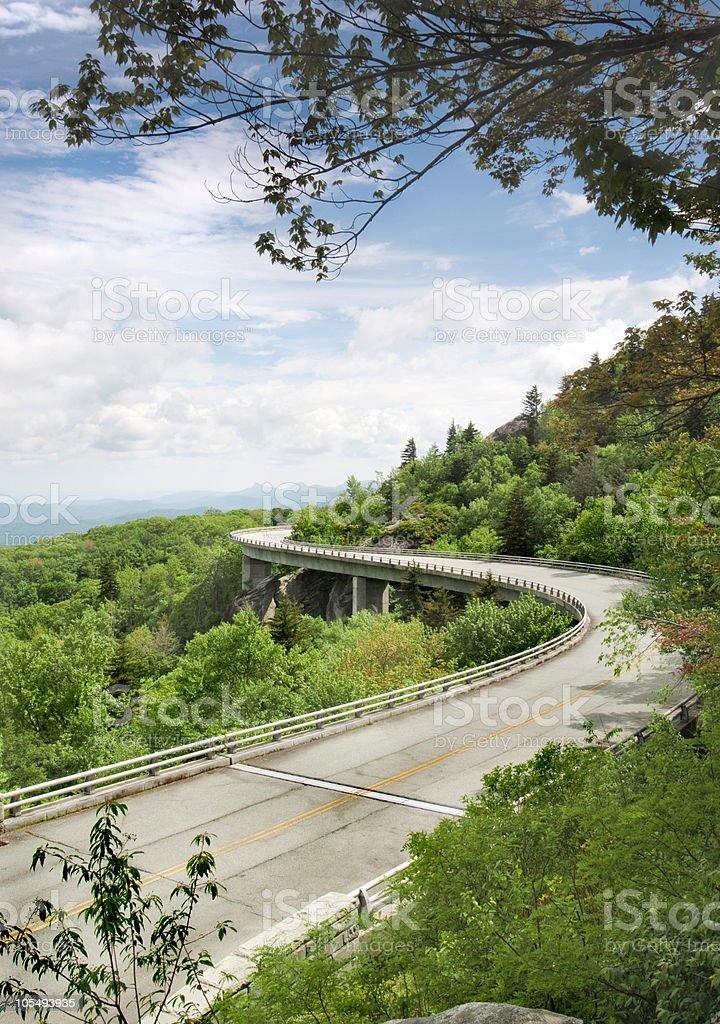Linn Cove Viaduct royalty-free stock photo