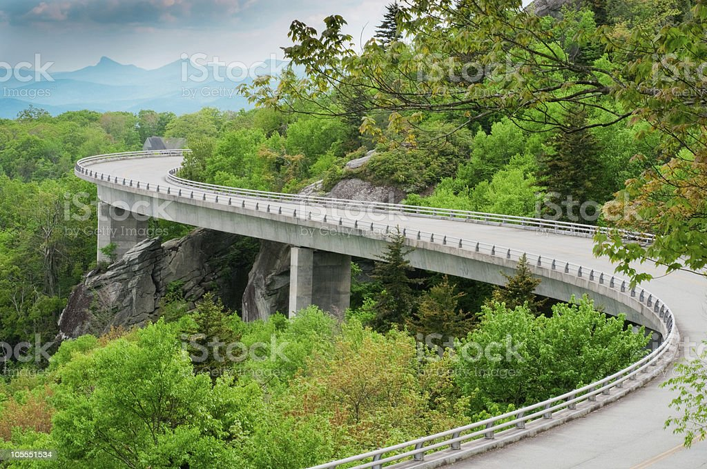 Linn Cove Viaduct royalty-free stock photo