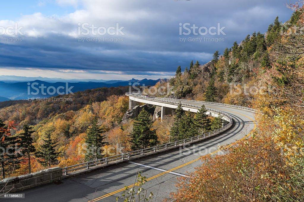 Linn Cove Viaduct stock photo