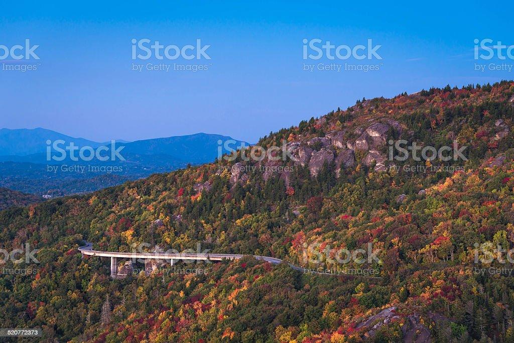 Linn Cove Viaduct Sunrise stock photo